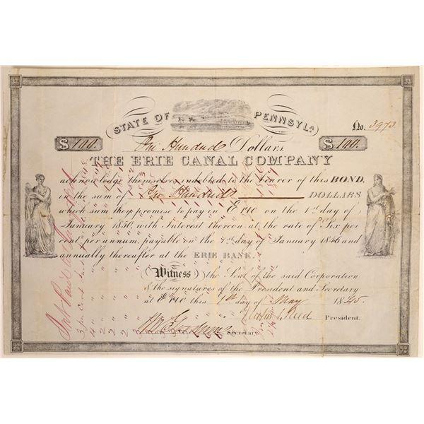 Erie Canal Company Bond  [134106]