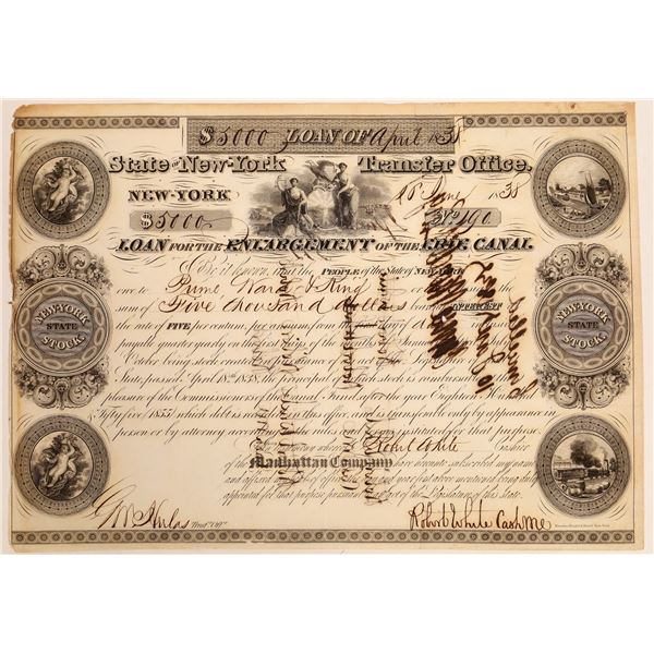 Erie Canal Enlargement Bond  [134107]