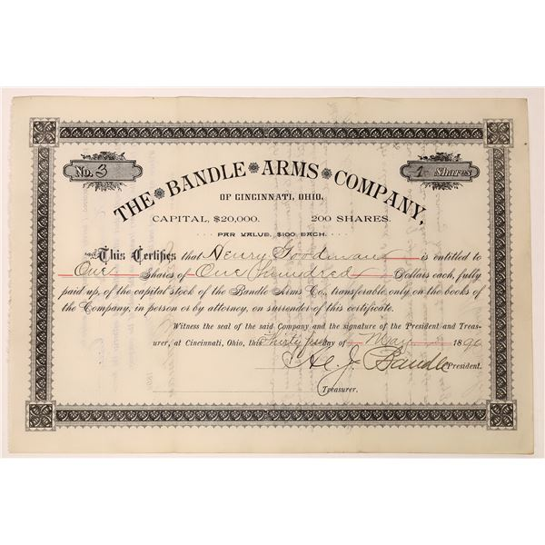 Bandle Arms Company Stock Certificate  [129759]