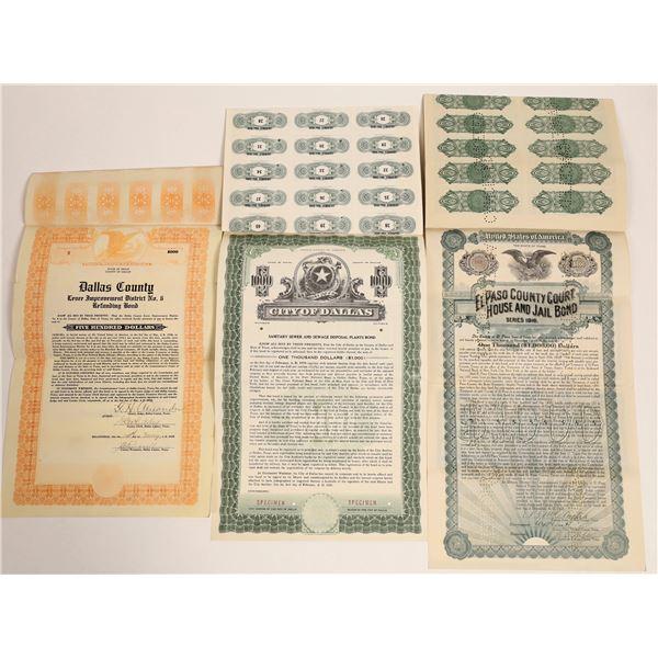 Three Texas Bonds  [130172]