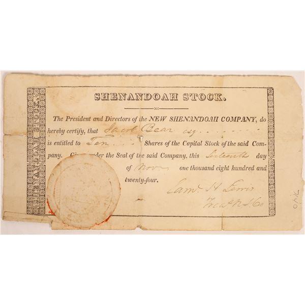New Shenandoah Company Stock Certificate  [134155]