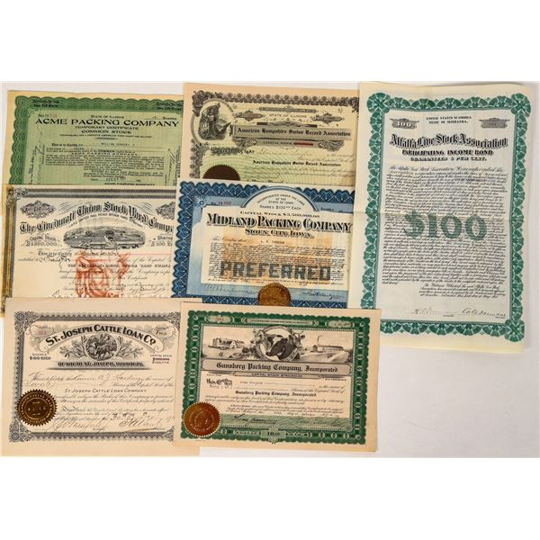 Midwest Livestock Packing Company Stock Certificates  [124561]