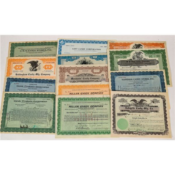 Candy Company & Store Stock Certificates  [124545]