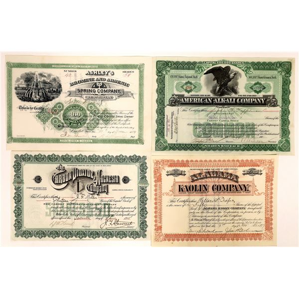 Industrial Materials Companies Stock Certificates (4)  [127960]