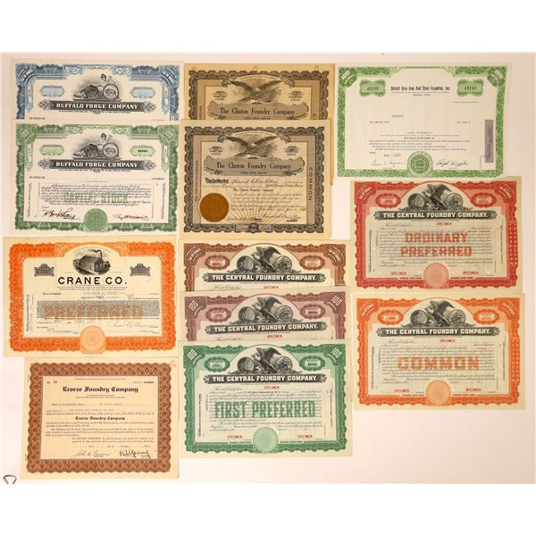 Iron and Steel Foundries Stock Certificates (12)  [127606]