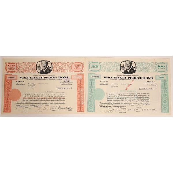 Walt Disney Stock Certificates  [130171]