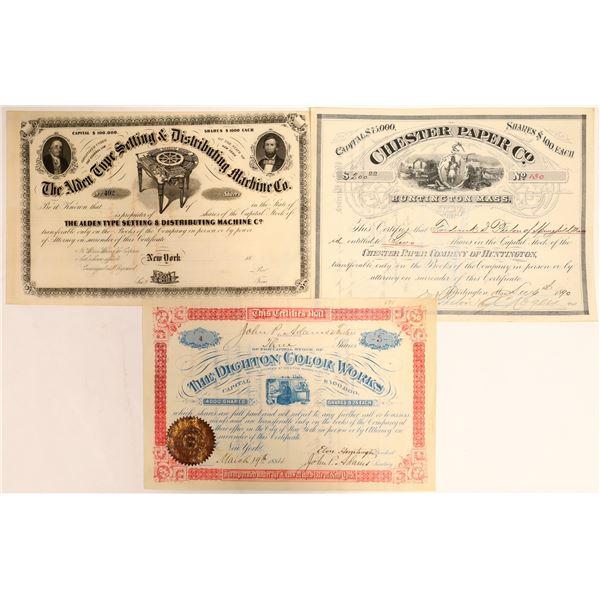 Printing Business Stock Certificates (3)  [127962]