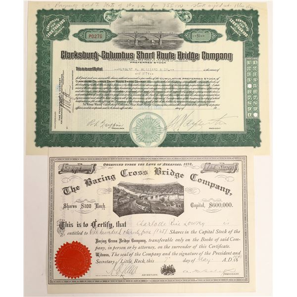 U.S. Bridge Building Companies' Stock Certificates (2)  [127981]