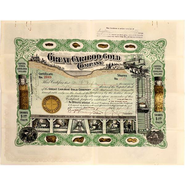 Great Cariboo Gold Company Stock, British Columbia, 1906  [111892]