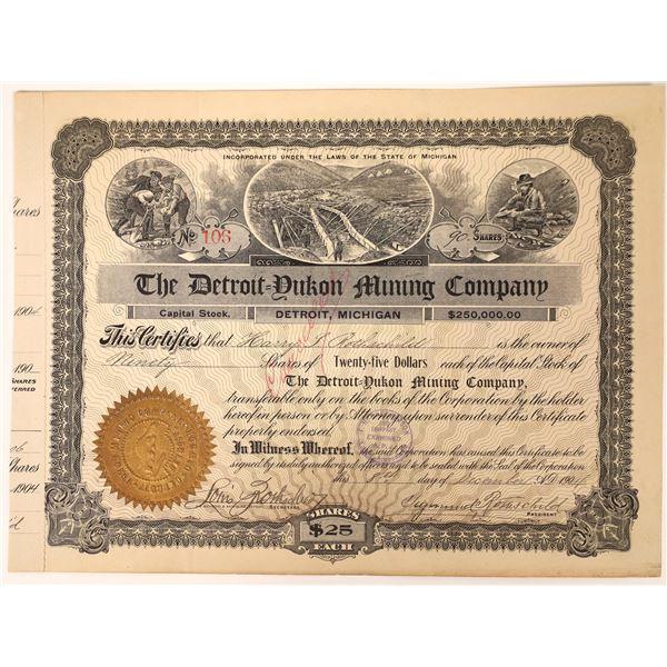 Detroit Yukon Mining Co Stock, Dawson City, Klondike, 1904  [111851]