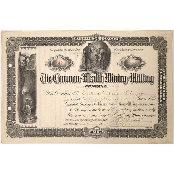 Commonwealth Mining & Milling Stock, Tombstone, Arizona  [129569]