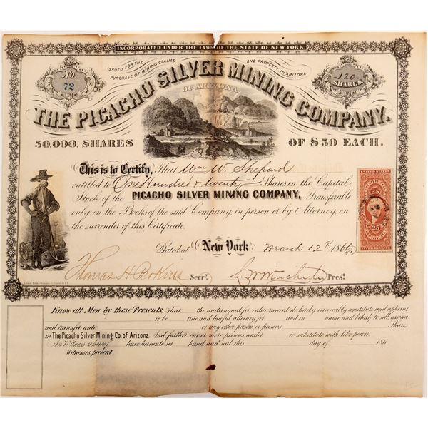 Picacho Silver Mining Company of Arizona Stock Certificate - RARE!  [106527]