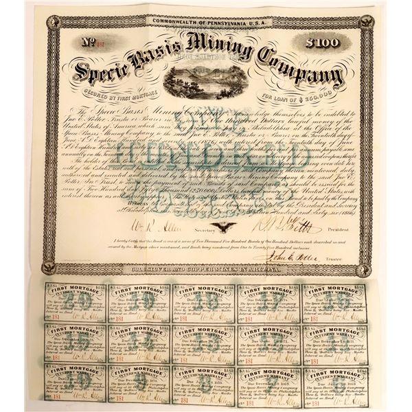Specie Basis Mining Company Bond, 1866  [111875]