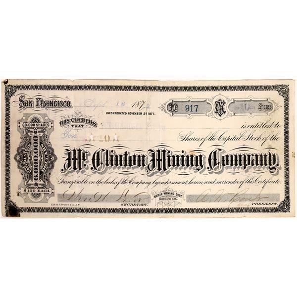 McClinton Mining Company Stock Certificate  [132092]