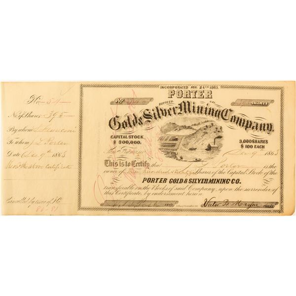Porter Gold & Silver  Mining Co. Stock Issued to Porter  [59502]