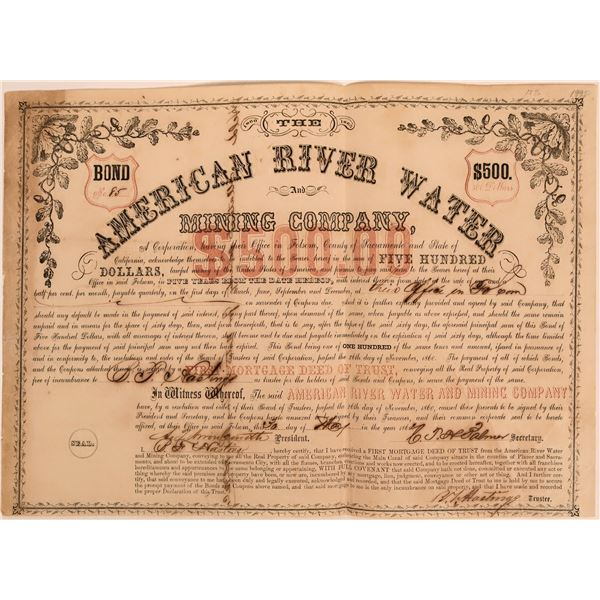 American River Water and Mining Co. Bond  [115795]