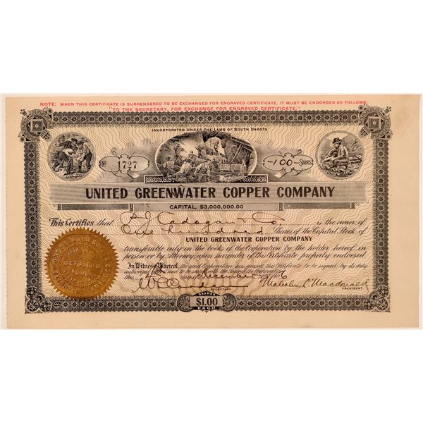 United Greenwater Copper Co. Stock, Death Valley  [135387]