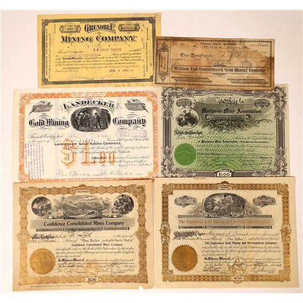 California Mining Stocks, 1887-1919 (7)  [129554]