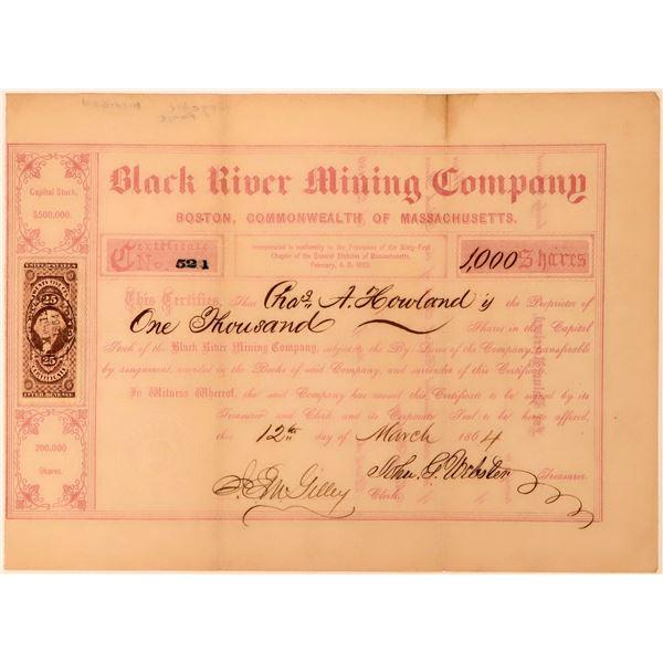 Black River Mining Co Stock, Gogebic Range,  Michigan, 1864  [118432]