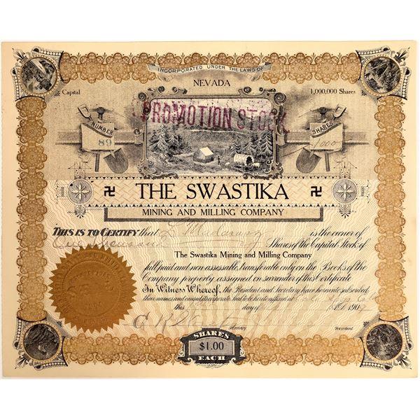 Swastika Mining & Milling Company Stock, Searchlight, Nevada, 1909  [111878]