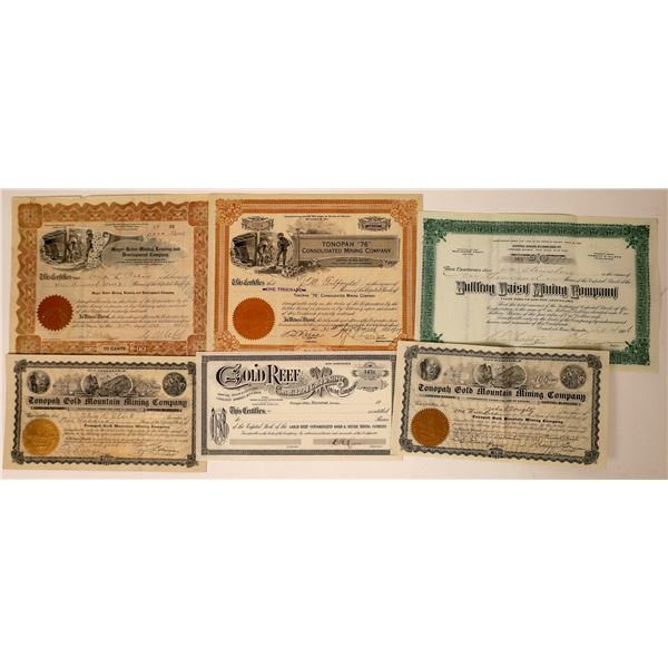 Tonopah to Bullfrog Stock Certificates  [130082]