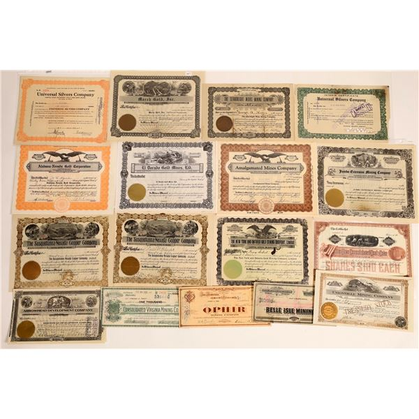 Nevada Mining Stock Collection  [134021]