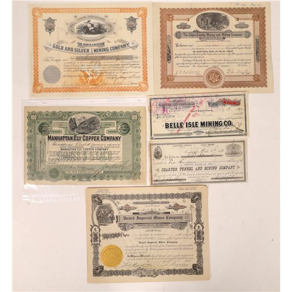 Northwest Nevada Mining Stock Certificate Collection  [130084]
