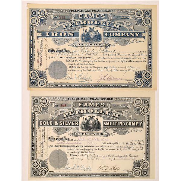 Eames Petroleum Stock Certificates (2)  [129754]