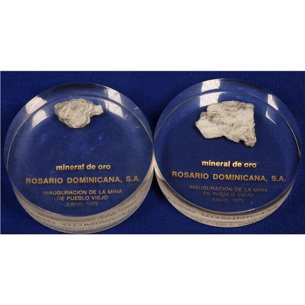 Gold Ore Commemoratives, Pueblo Viejo Mine, Dominican Republic  [132286]