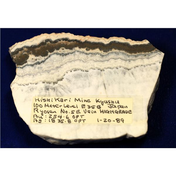 High-Grade Gold Ore Slab, Hishikari Mine, Japan  [131918]