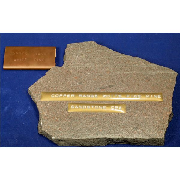 Native Copper in Sandstone, White Pine Mine, Ontonagan Co., Michigan  [132377]