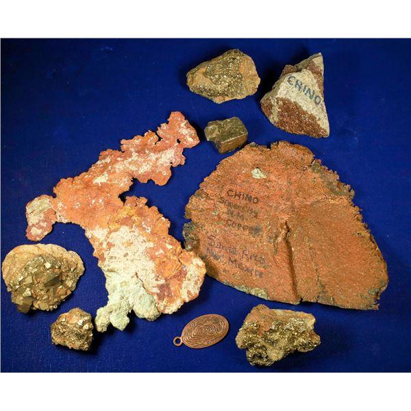 Chino Mine Native Copper, Pyrite, and Bornite - 8 pcs  [132445]
