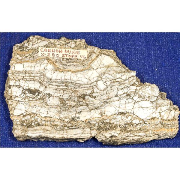 Gold Ore Slab, Cannon Mine, Wenatchee, Washington  [132521]