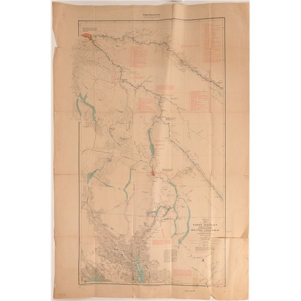 Map of the Yukon District in the North West Territory 1898  [121154]