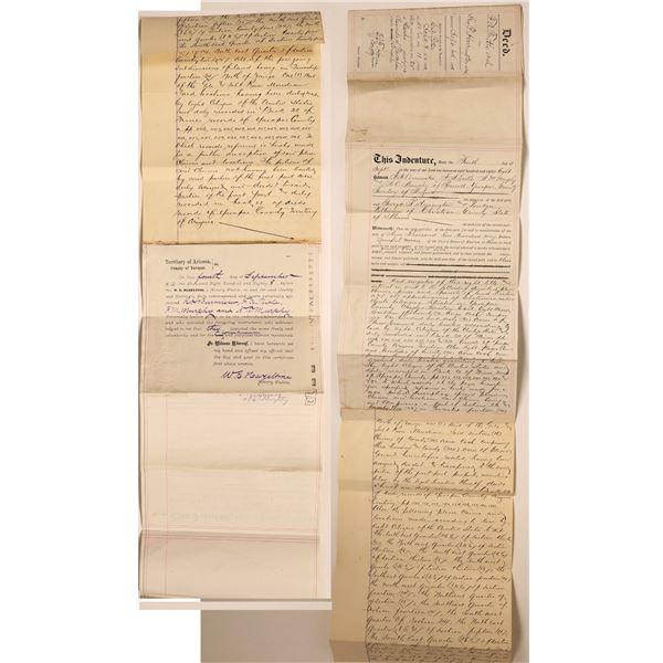 Early Arizona Territory Mining Deed   [131960]