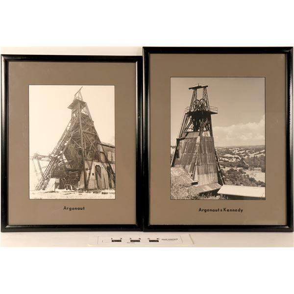 Kennedy and Argonaut Mine Head Frames - 4 B&W Photos  [125072]