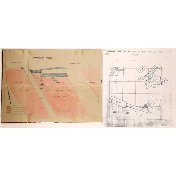 """Schematic Diagram of the """"Hathaway Mine"""", Ophir Mining District  [132402]"""