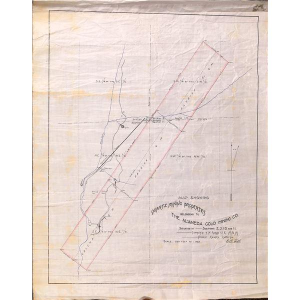 Alameda Gold Mining Co. Map  [132403]