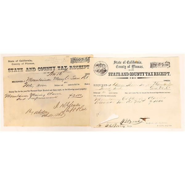 State & County Tax Receipt for Mountaineer Mine Co.  [131845]
