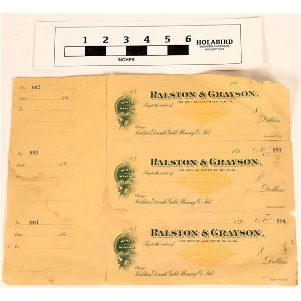 Ralston & Grayson Checks  [135412]