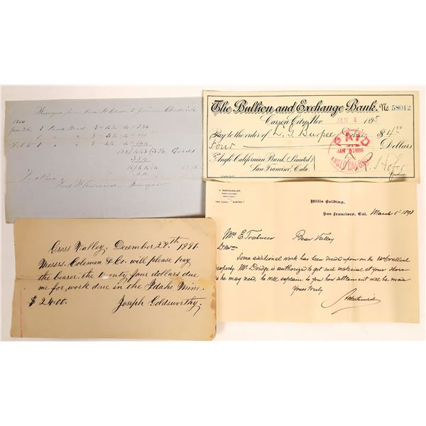California Mining Documents (4)  [132814]