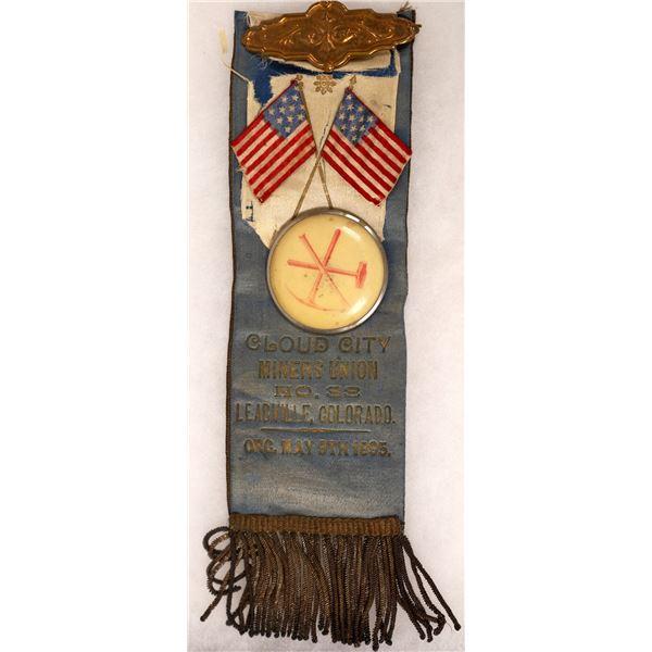 Leadville Miners' Union Campaign Ribbon  [131614]