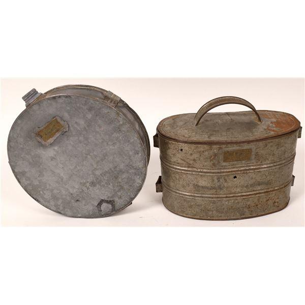 Vintage Leadville Lunch Bucket & Canteen  [121699]