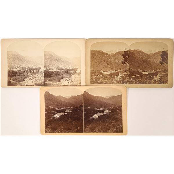 Three Birdseye Stereoviews of Manitou, Colorado c. 1880  [111853]
