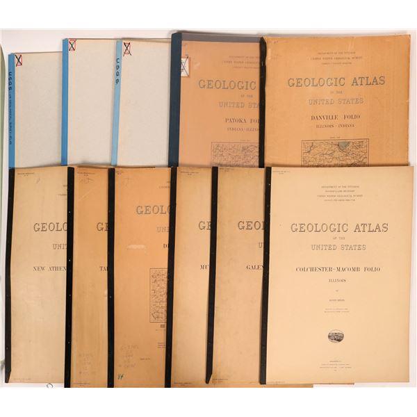 Indiana - Illinois USGS Geologic Folio Group (10)  [112316]