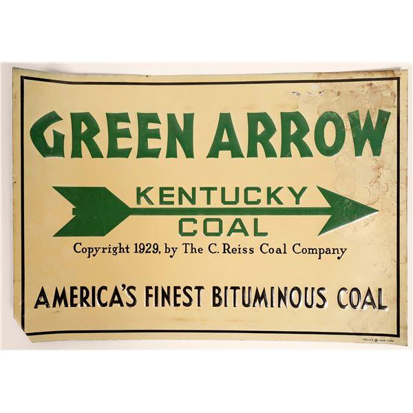Green Arrow Kentucky Coal Tin Advertising Sign  [134046]