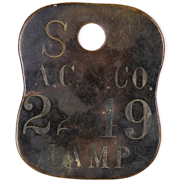 Anaconda Copper Mining Company Underground Lamp Equipment Tag  [129312]