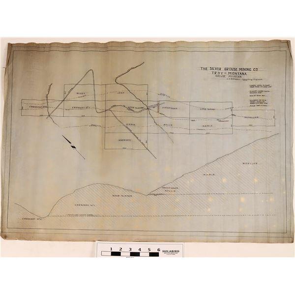 Grouse Mountain Mining Co. Maps Troy, Montana  [120605]