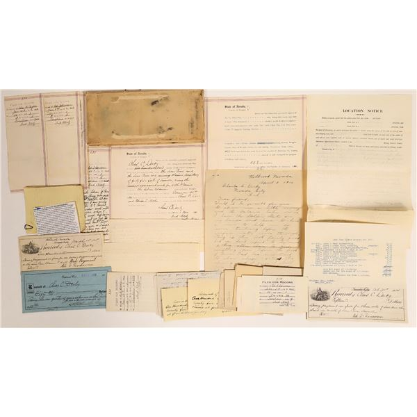 Holbrook, Nevada Mine Document Collection, 1906-1915  [132308]
