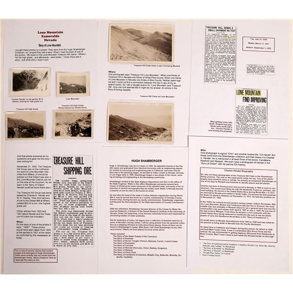 Treasure Hill / Lone Mountain, Esmeralda County High Grade Strike Photographs  [130219]